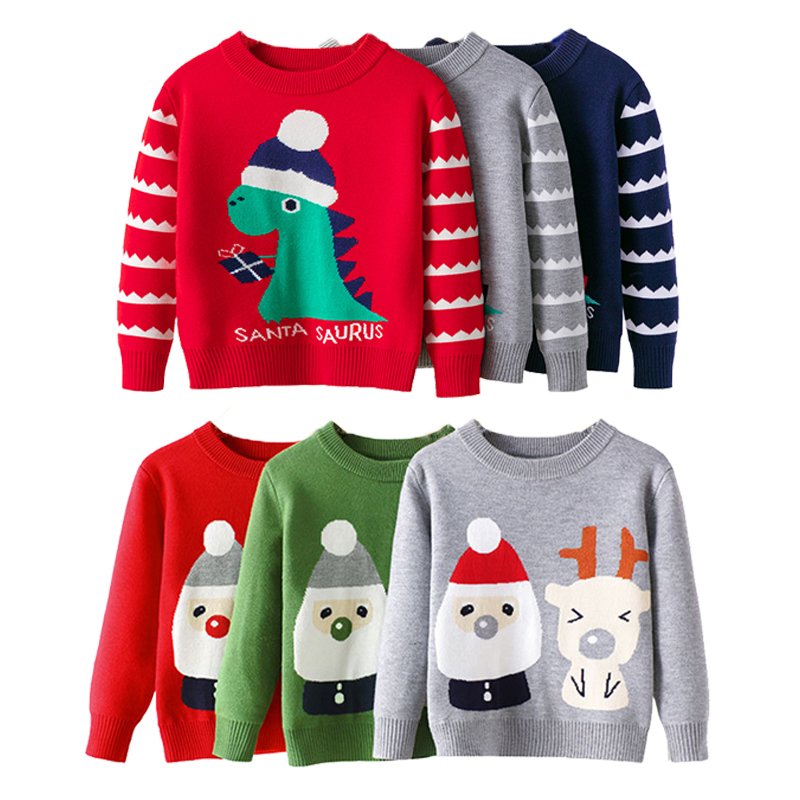 2021 Baby Girls Boys Sweater Christmas Costume Autumn Children Clothing Knitwear Boy Girl Pullover Knitted Sweater Kids Sweaters 1