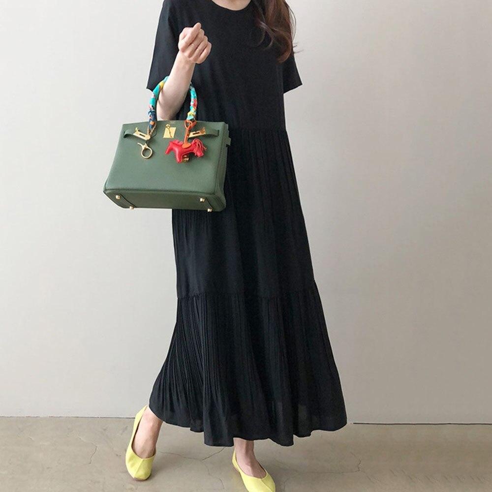 Женское повседневное длинное платье макси, японский пуловер для молодых девушек, свободные богемные офисные женские плиссированные дизайнерские корейские шифоновые летние платья, Новинка|Платья|   | АлиЭкспресс