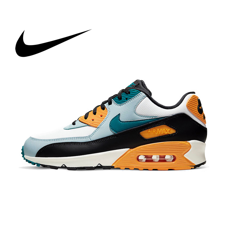 Original NIKE AIR MAX 90 ESSENTIAL Men's Running Shoes Comfortable Good Quality Fashion Sport Outdoor Sneakers AJ1285-110