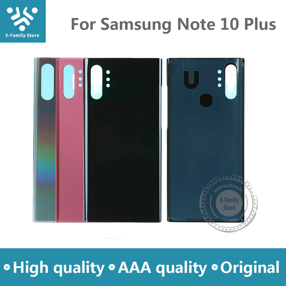 E-family Original Back Glass Replacement For Samsung Galaxy Note 10 Plus N975 N975F Battery Cover Rear Door Housing Case