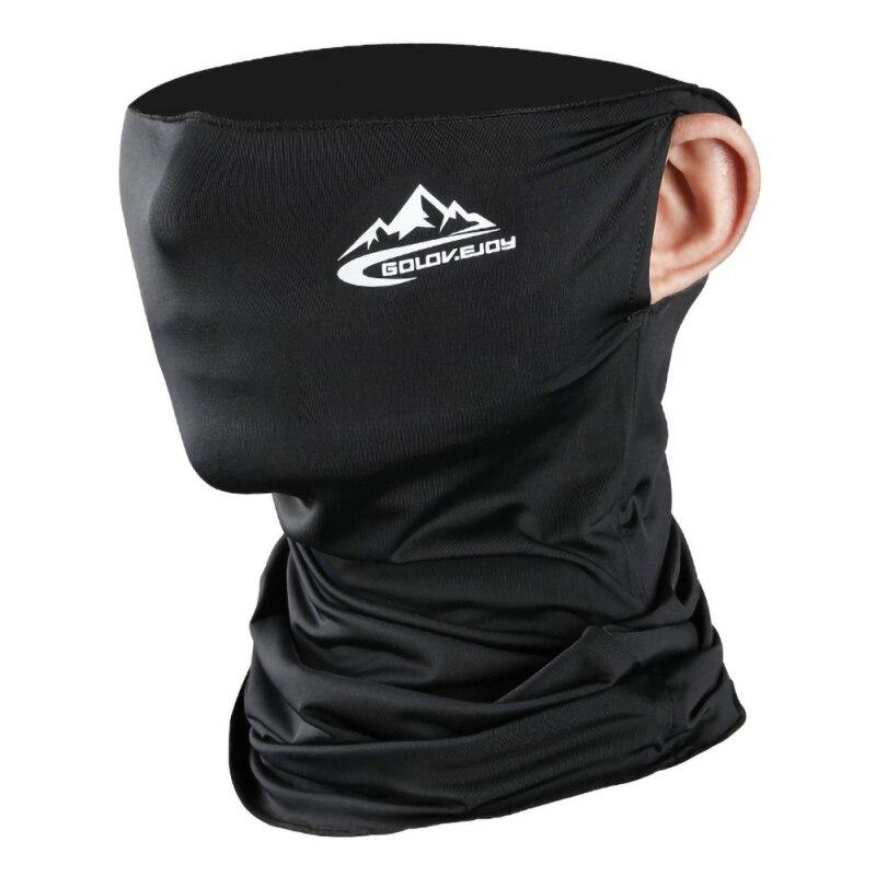 Frühling Sommer Radfahren Halbe Gesicht Maske Haut Kühles Eis Silk Atmungsaktiv Uv schutz Outdoor Sport Headwear Camping Wandern Stirnband