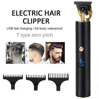 цена на Cordless Hair Clipper USB Electric Hair Trimmer Shaver Trimmer 0mm Men Haircut Baldheaded Hair Cutting razor Barber Machine