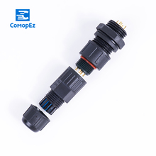 цена на Waterproof connector LED male female docking aviation plug and socket welding free 25A IP68 8-10.5mm Cable connector for Led Lig