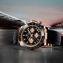 Chronograph Japan Quartz-Watches Vk63-Clock Date Pagani-Design Waterproof Luxury Gold