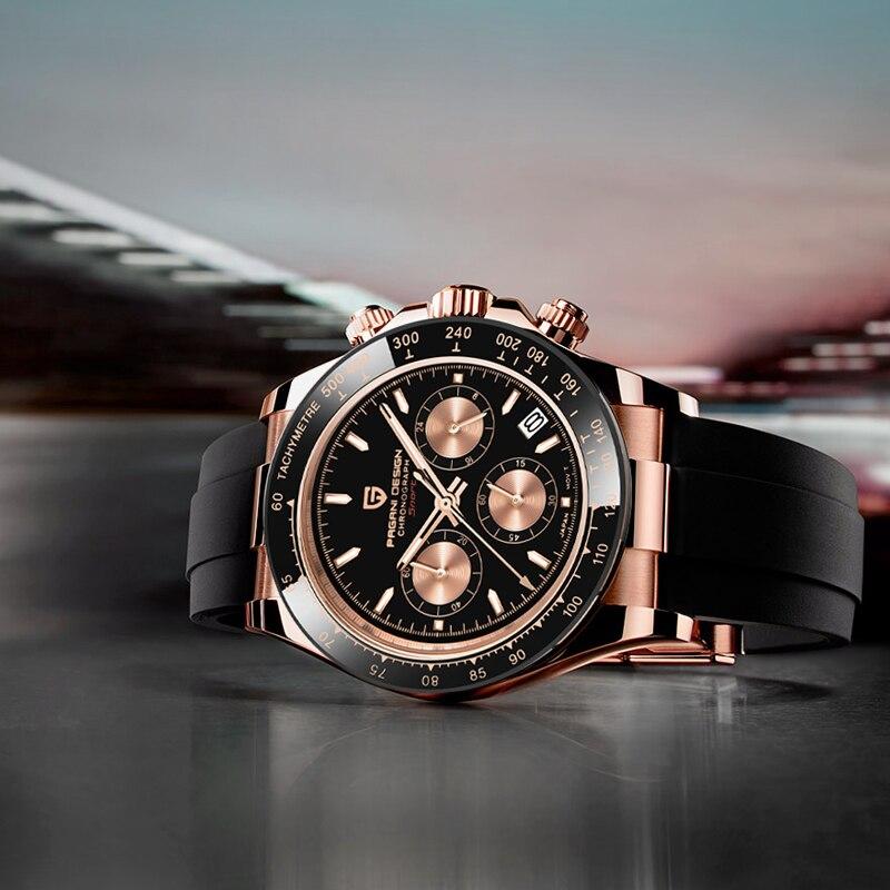 2020 New PAGANI DESIGN Mens Quartz Watches Automatic Date Luxury Gold Wristwatch Men Waterproof Chronograph Japan VK63 Clock man|Quartz Watches| - AliExpress