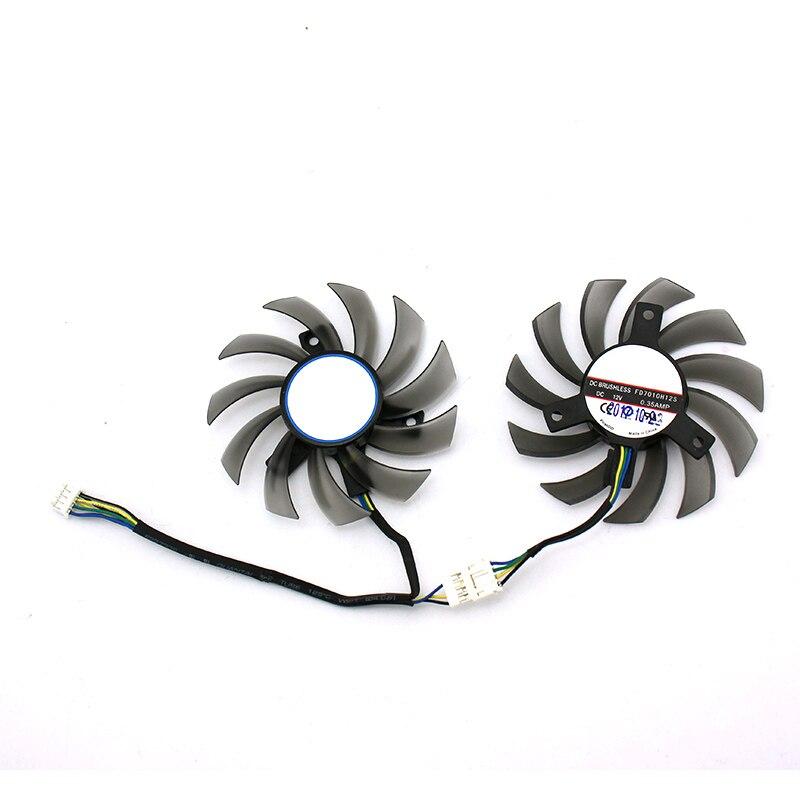75mm para GTX 1050ti/GTX 1050/960/950/RX460 ventilador de refrigeración de tarjeta gráfica 4pin