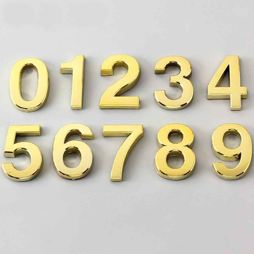 Aspire Letters A-Z Pack of 2PCS House Address Sign 2.75 H Door Hotel Number English Letters with Self-Adhesive Backing-Silver-Letter A