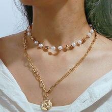 Панк массивное кубинское ожерелье чокер женская большая золотая