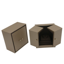 Jewelry box double open unique design ring box jewelry organizer ring pendant bracelet necklace display stand earring holder