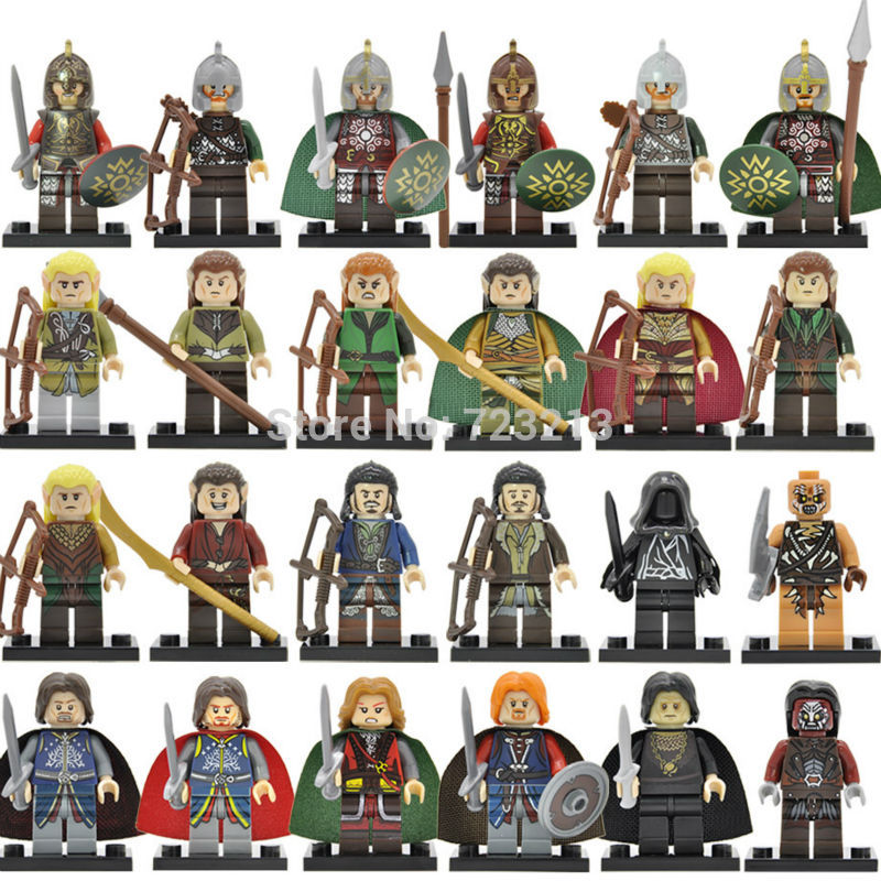 Single Movie Figure Wraith Rider Rohan Bowman Mordor Orc Lord Of The Rings Boromir Archer Building Blocks Models Toys Legoing