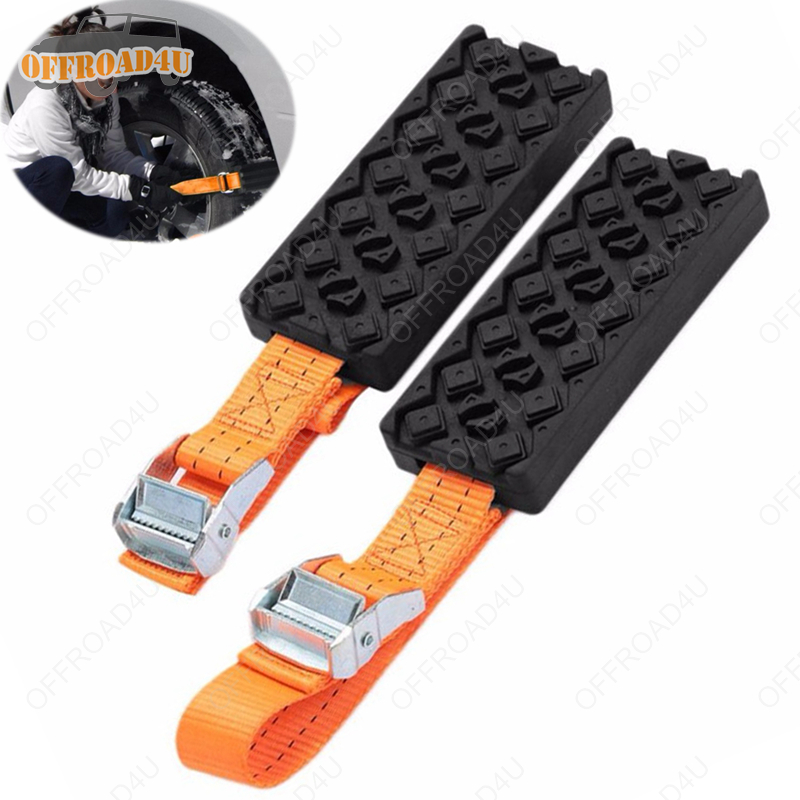 Offroad Sand Track Snow Track Anti-Skid Chain Car Tire Traction Blocks Emergency Mud Sand Tire Chain Straps For Recovery 4WD