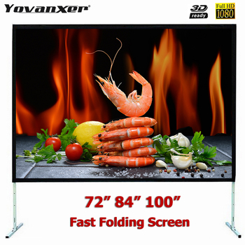 Fast Fold Projector Screen 72 84 100 inches Quick Folding Projection Screens for Outdoor Concerts Exhibitions Cinema