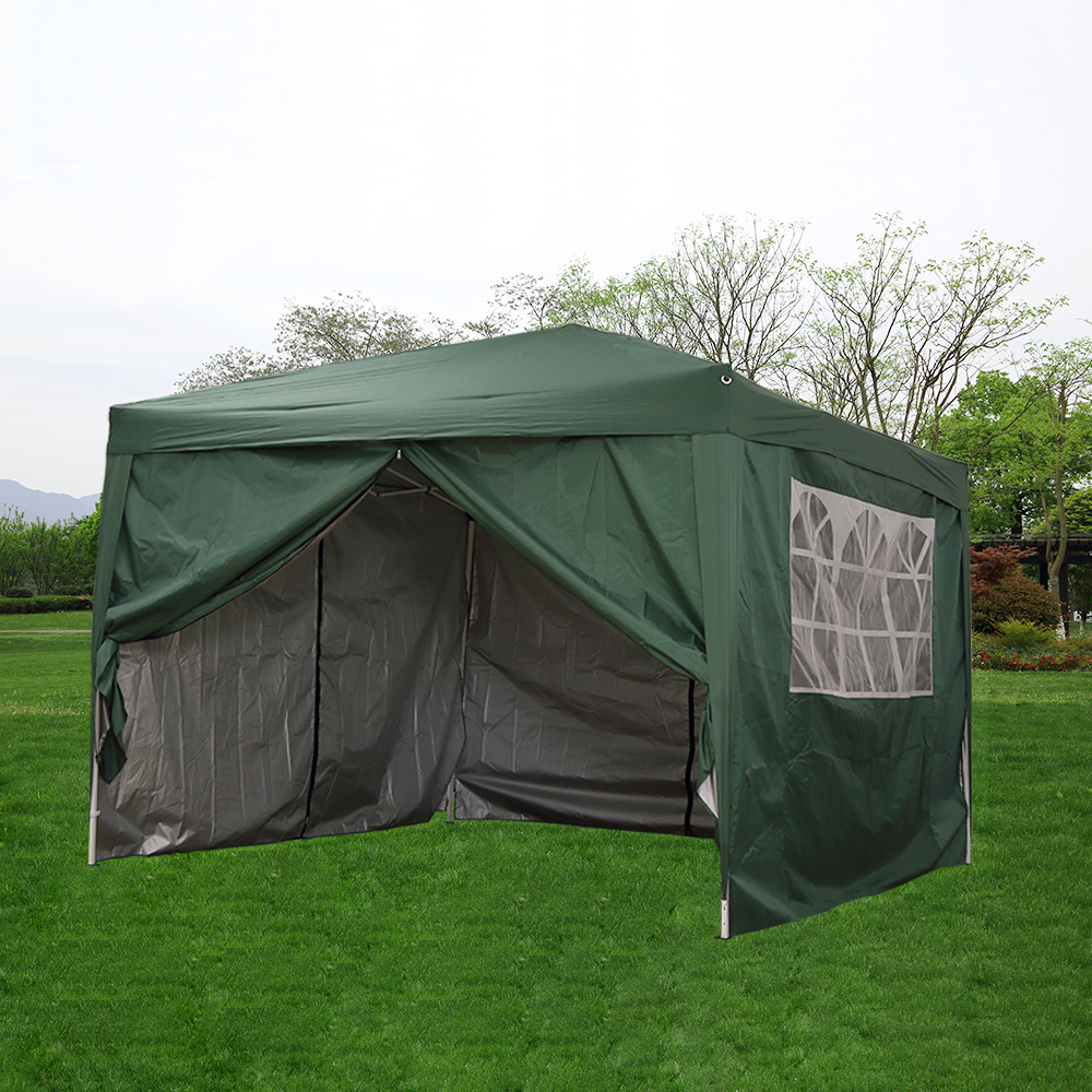 Presale 15% Off Waterproof 3x3m Pop Up Gazebo Marquee Garden Awning Party Tent Canopy Arbor Easy Set-up &Carrier Bag Full Closed