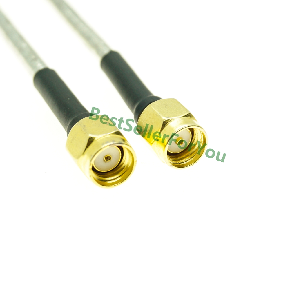New RPSMA Male To RP SMA Male Plug Straight RF Coax Pigtail Semi-rigid Cable RG402 Jumper