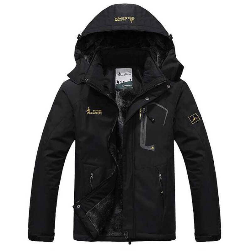 冬パーカー男性防風プラスベルベット厚い暖かい防風毛皮のコート男性軍事フード付きアノラックジャケットメンズ冬のジャケット