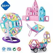 Romboss Set de construcción de diseñador magnético modelo y edificio juguete imanes magnéticos azulejos juguetes educativos para los niños