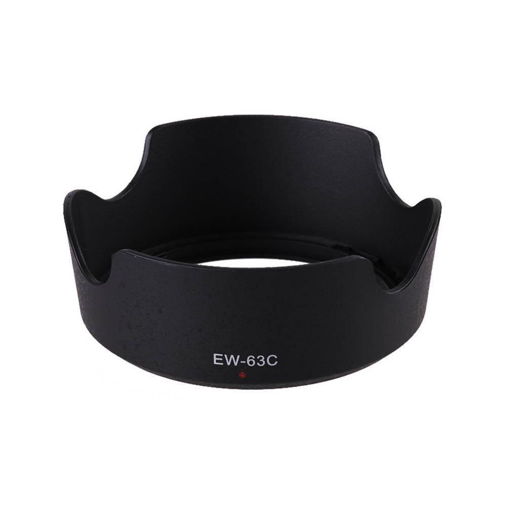 1PC noir ABS pare-soleil EW-63C EW63C pour Canon EF-S 18-55mm f/3.5-5.6 IS STM 58mm caméra pare-soleil objectif protecteur ew 63c
