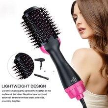 Новая одежда для маленькой девочки 2 в 1 один шаг фен горячего воздуха щетка для волос выпрямитель для волос щипцы для завивки волос щетка дл...