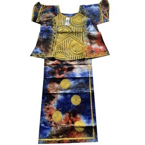 Image 4 - MD african clothes for women skirt short rapper with scarf suit embroidery african style 2019 south africa lady dashiki clothing