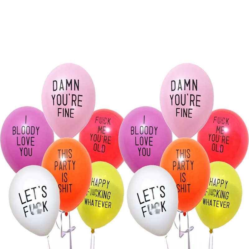 12 шт./лот оскорбительные воздушные шары, Забавный грубый воздушный шар, девичник, украшения для вечерние ринки, коллекция оскорбительных ша...