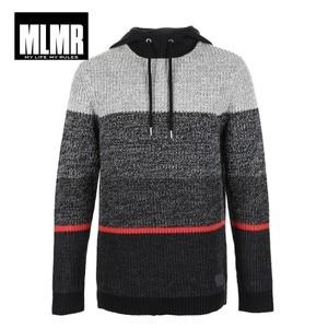 Image 5 - JackJones di Stile degli uomini di Cucitura di colore maglione con cappuccio 218425513