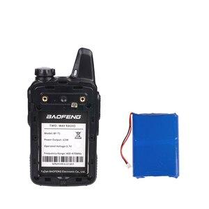 Image 3 - جهاز اتصال لاسلكي صغير Baofeng BF T1 LCD UHF FM Ham CB راديو اتجاهين للأطفال 1500mAh HF جهاز إرسال واستقبال البيني