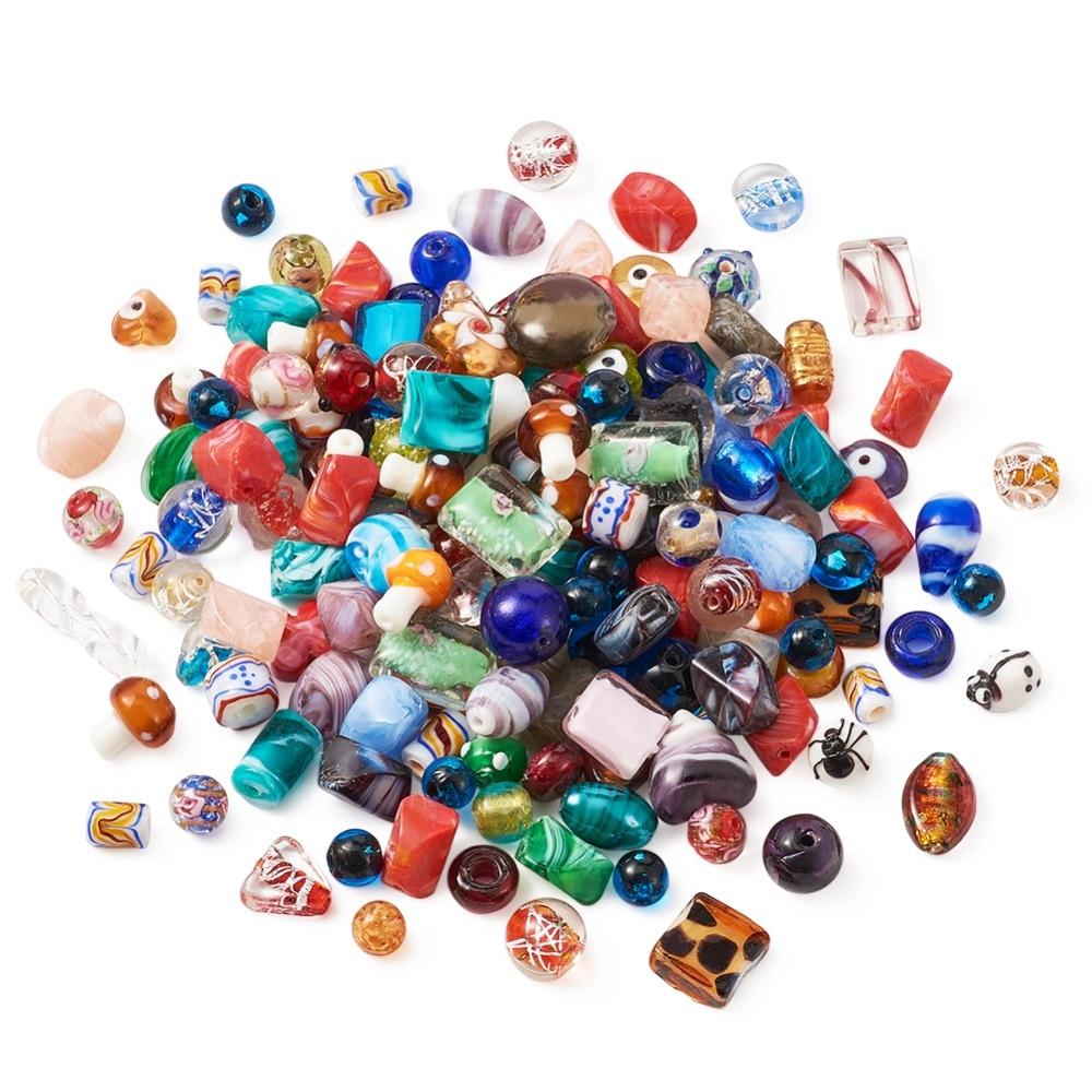 50g X mixtos de tamaño Surtidos De Colores De Cristal De Murano Cuentas