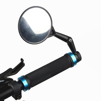 Lusterka na końcówkę rączki rowerowe 360 obrotowe boczne lusterka wsteczne rowerowe boczne lusterka wsteczne akcesoria sprzętowe tanie i dobre opinie CN (pochodzenie) Bike