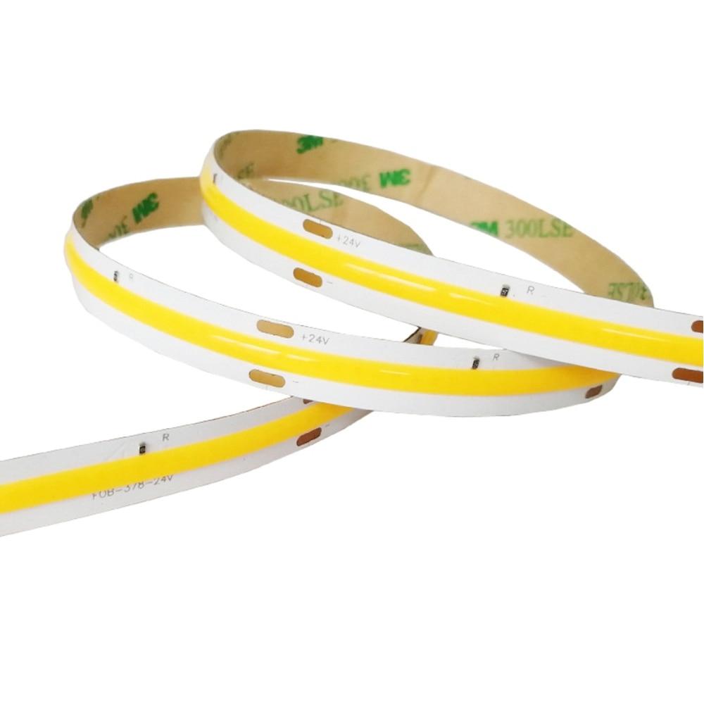 Tira de luz Flexible Led COB/FOB de alta densidad 14 W/M RA80 Blanco/blanco natural/blanco cálido iluminación Led IP65 Nueva Ronda empotrado Led marco luz de techo de Led luz para MR16 GU10 Copa Led bombillas de Dia50mm