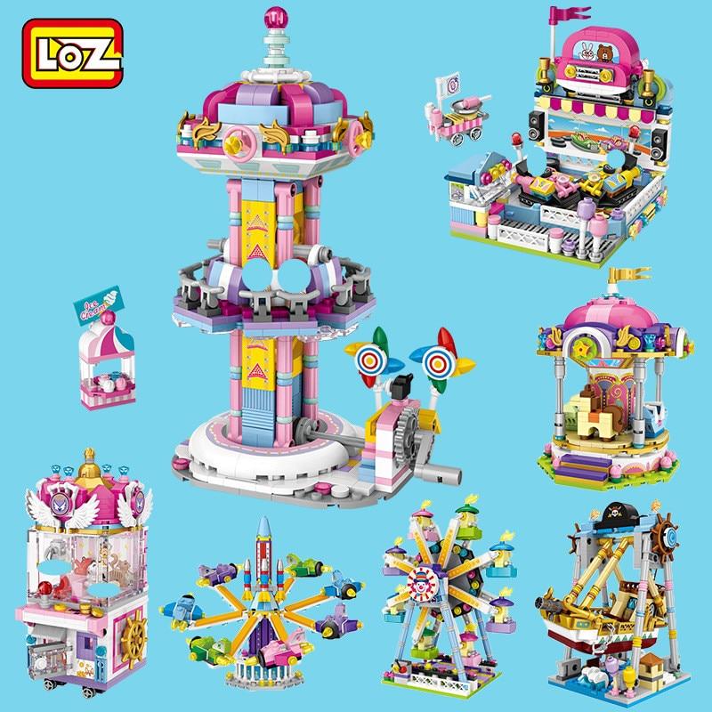 LOZ Amusement Park Series Carousel Kids Puzzle Mini Block Brick Toy w//Box