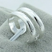 Wholesale Hot Sale 925 Silver Color Rings Female Couple Jewelry Elegant Retro Party Gift