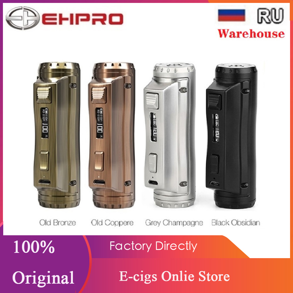 Original 120W Ehpro Cold Steel 100 TC Box MOD 0.0018S Ultrafast Firing Speed 120W Max Output E-cig Vape Mod VS Drag 2 / Vinci X