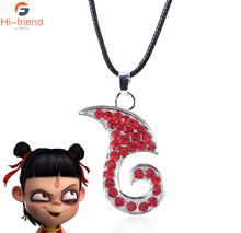 Hot movie NE ZHA red flame logo necklace clavicle rock chain Wrist collar ladies girl fashion jewelry