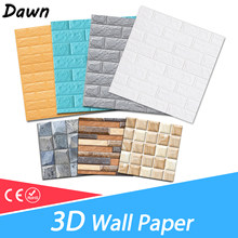 3D Wall Stickers Marble Brick Waterproof DIY Self-Adhesive Decor Background For Kids Room Living Room Wallpaper Sticker