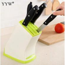 Kitchen Knives Storage Rack Knife Holder Multifunction Plastic Block Mount Stands For