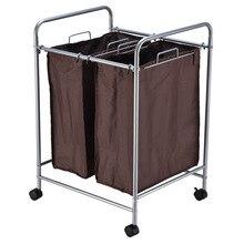 Многофункциональная портативная сумка для хранения грязной одежды грузовик домашний ролик двойной чехол корзина для белья настраиваемая