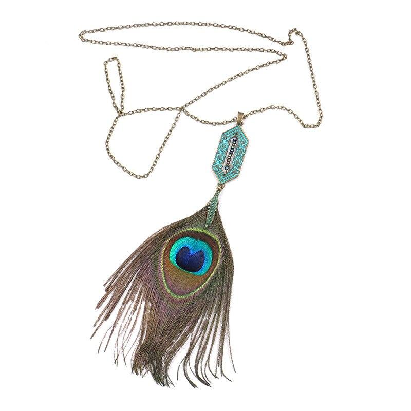 Collier Attrape Rêves Mini à Plumes de Paon Bijoux femme bohème capteurs de rêves style chic boho amérindien fantaisie