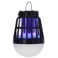 Urządzenie przeciw komarom światło Uv pułapka na owady przenośny namiot na komary 2 w 1 lekka lampa kempingowa akumulator urządzenie do zabijania komarów i insektów Waterp w Lampy gazonowe od Lampy i oświetlenie na