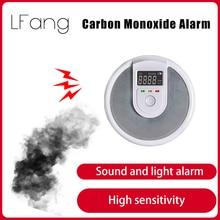 Tuya Smart Zigbee LCD Carbon Monoxide Smoke Alarm Sound and Light Alarm Long Standby Easy Installation Responsive