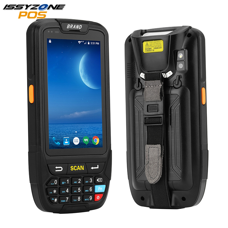 IssyzonePOS PDA терминал 1D 2D считыватель штрих кодов Android 7 сборщик данных Wifi Bluetooth для управления запасами складская система