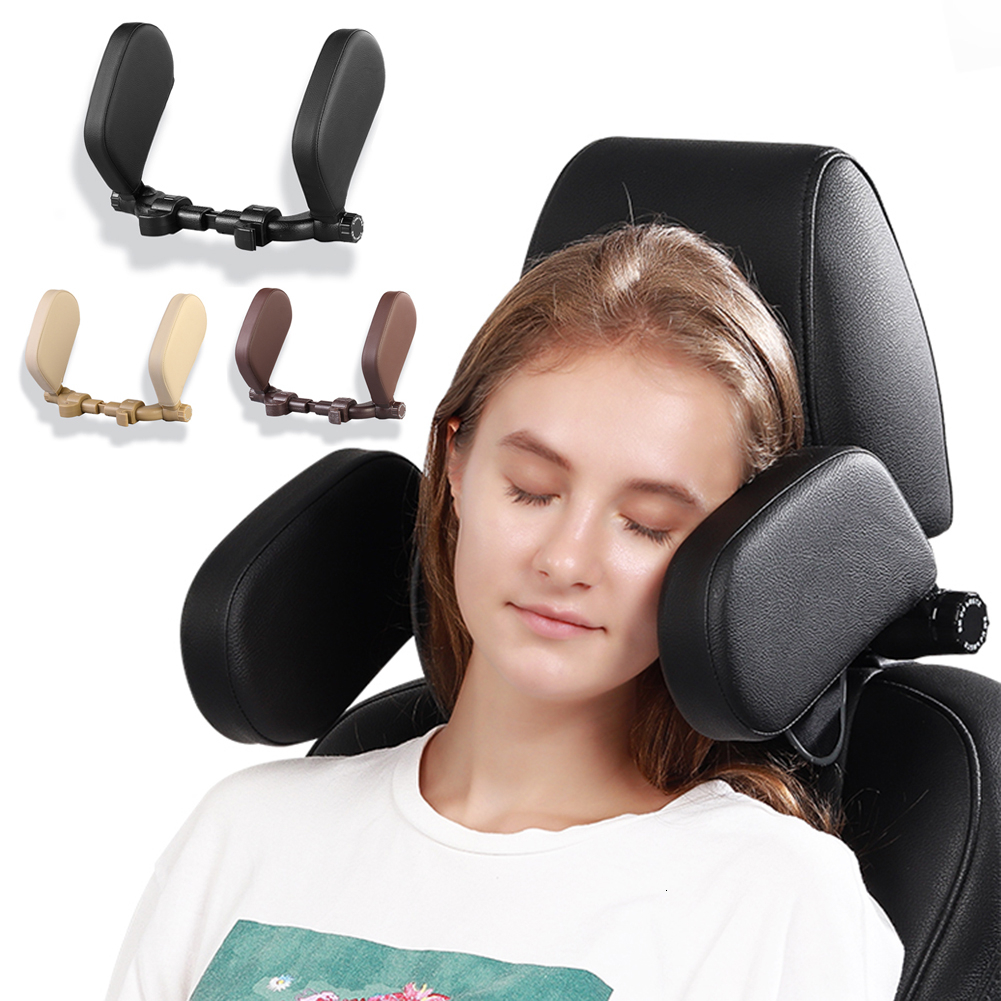 Car Seat Headrest Car Seatbelt Pillow Booster Seat Head Support And Neck Support Travel Sleeping Cushion For Kids Adults Black