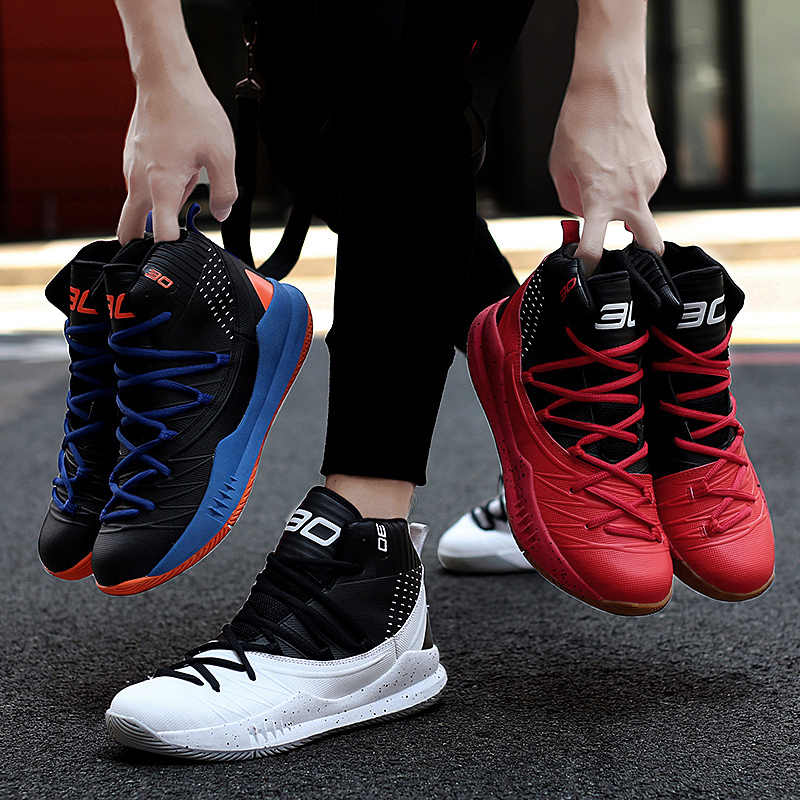 Mens Trainers Boys Basketball Shoes Outdoor Sneakers High Top Sport Shoes