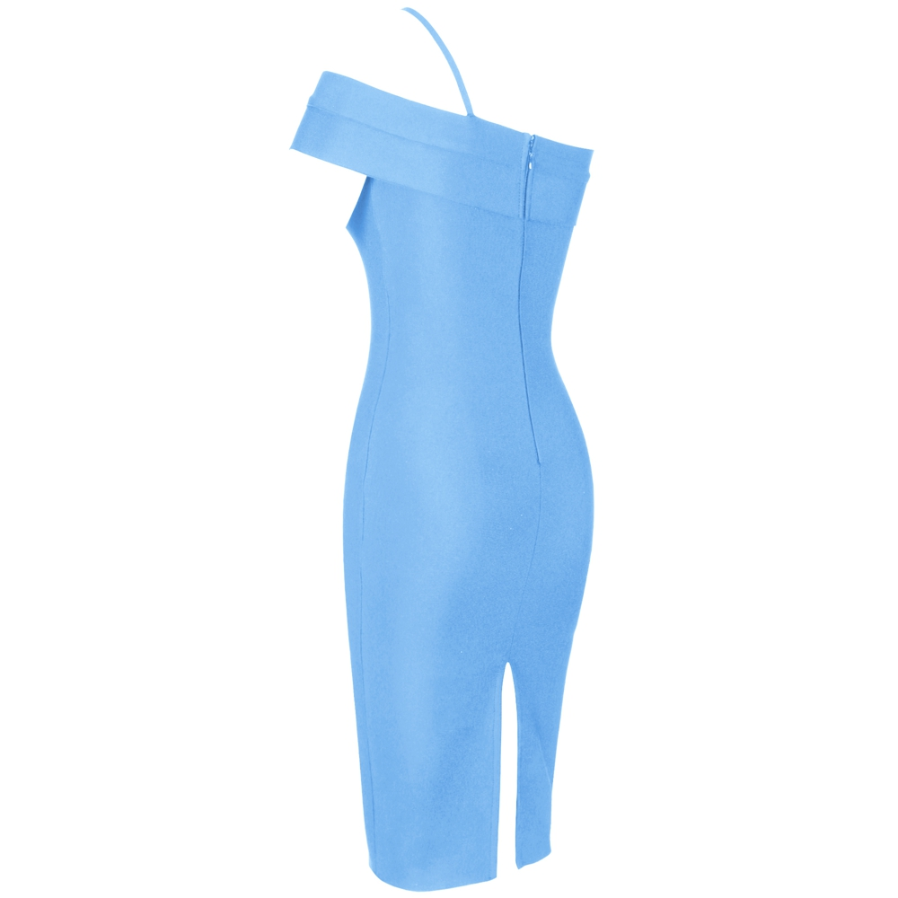 Image 4 - Deer Lady Celebrity Bandage Dress 2019 New Arrivals Women Blue 