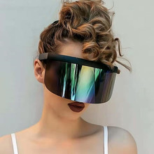 2019 NEW Nicki Minaj style Women Visor Sunglasses Trending Product Mirror Fun Sun Glasses UV400 Fashion Shades