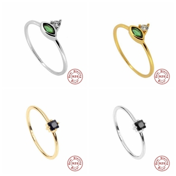 100% Real 925 Sterling Silver Women Finger Rings green stone Retro Rings for Women Fashion Style Ring Jewelry real retro 925 sterling silver open rings for women hollow twisted chain ring fashion sterling silver jewelry
