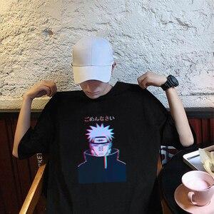 Harajuku Cartoon Anime Naruto Pain T Shirts Men Streetwear Short Sleeve Tops Tee Japanese 3D Funny Print Hip hop Men's T-shirt(China)