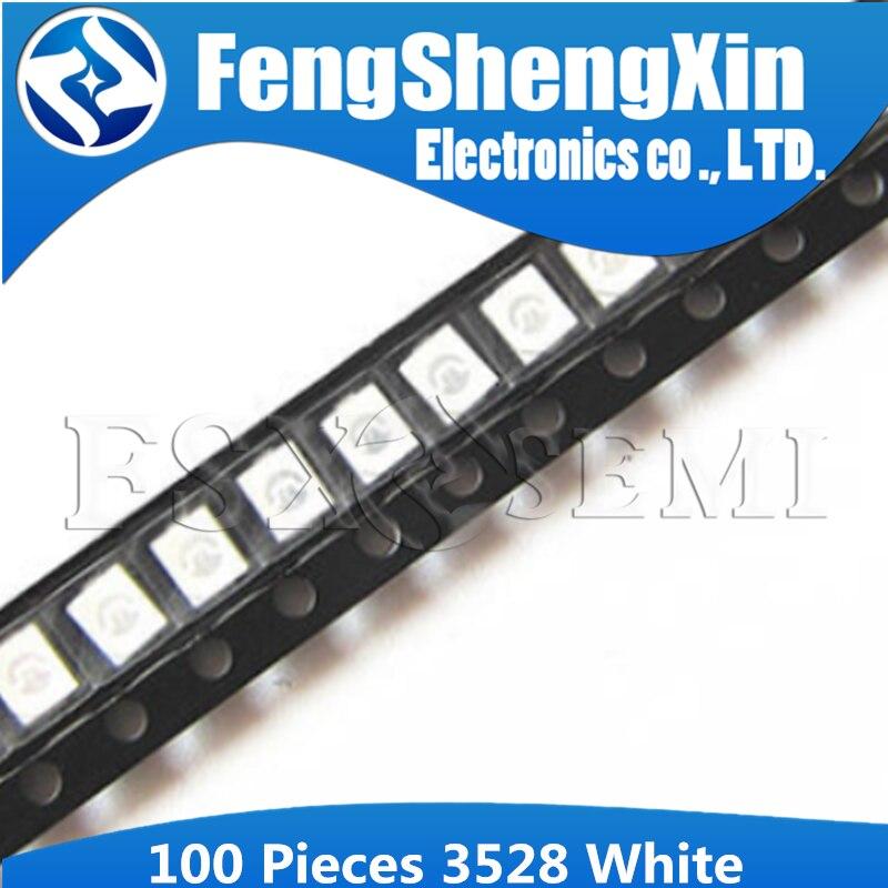 100pcs White 3528 1210 SMD LED Diodes Light