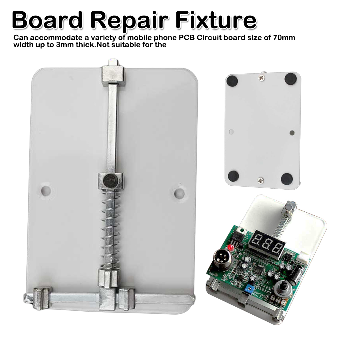 <font><b>Mobile</b></font> <font><b>Phone</b></font> <font><b>Board</b></font> <font><b>Repair</b></font> <font><b>Fixture</b></font> PCB Holder Work Station Platform Fixed Support Clamp Steel PCB <font><b>Board</b></font> Soldering <font><b>Repair</b></font> Holder image