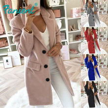 Women Wool Coat Winter Long Ladies jackets Coat Plus Size 5XL Casual Solid Pink