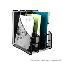 Magazine File Paper Letter Holder Desk Book Organizer Document Rack Brochure Filling Storage Office Stationery Bookends Metal